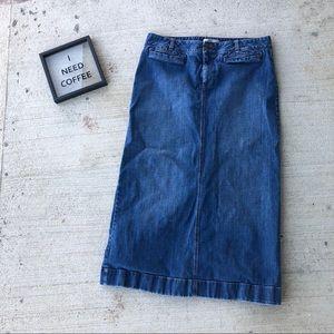 Old Navy 14 Long Jean Skirt (Ultra Low Waist)
